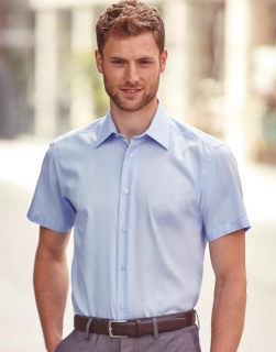 Absolut Bügelfreies Hemd kurzarm / Kentkragen - Slim Fit