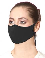 Zertifiziert nach Norm EN 13274-7 wiederverwendbare und waschbare Mund-Nasen-Maske 2-lagig schwarz