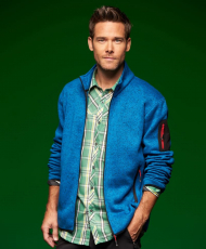 Gestrickte Fleece Jacke Men in vielen Farben