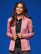 Gestrickte Fleece Jacke Ladies in vielen Farben