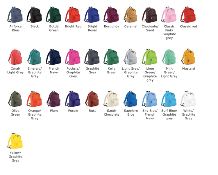 Original Fashion Rucksack in 31 Farben