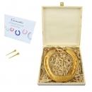 Vergoldetes Glückshufeisen optional mit Gravur inklusiv persönlicher Grusskarte und Geschenkbox