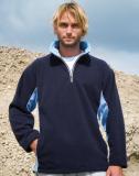Sport Fleece 1/4 Zip Sweater für SIE & IHN 360 g/qm