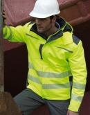 Dynamic SoftShell Jacke fluoriszierend - Wind- und Wasserdicht, Kapuze im Kragen (verstaubar)