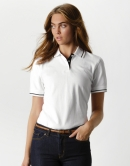 Contrast Tipped Piqué Polo Ladies