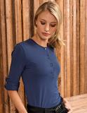 T-Shirt Women Long-John / Krempelärmel mit Knopflasche am Oberarm