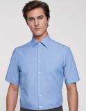 Business Hemd von Seidensticker. Absolut bügelfreies Hemd Modern Fit kurzarm mit Brusstasche und Kent Kragen