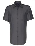 Business Hemd von Seidensticker. Absolut bügelfreies Hemd Regular Fit kurzarm mit Brusstasche und Kent Kragen