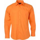 Popeline Hemd bügelleicht langarm mit Brusttasche in 20 verschiedenen Farben