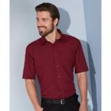 Popeline Hemd bügelleicht kurzarm mit Brusttasche in 20 verschiedenen Farben