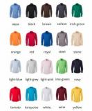 Popeline Bluse bügelleicht langarm in 20 verschiedenen Farben