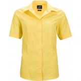 Popeline Business Bluse kurzarm bügelleicht in 11 verschiedenen Farben