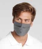 Wiederverwendbare und waschbare Mund-Nasen-Schutzmaske - Farben dunkelgrau, hellblau, weiss, schwarz