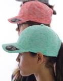 Melierte Baseball Cap mit gebogenem Schirm in vielen Farben