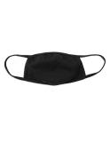 Wiederverwendbare und waschbareMund-Nasen-Maske 2-lagig schwarz - gesichtsbetonter Sitz
