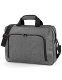 Exklusive Laptop-Taschen / Dokumententasche in grau und schwarz - Mit Firmenlogo bestickbar