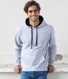Hoodie Sweater unisex - Innenkapuze Kontrastfarben in vielen Farben